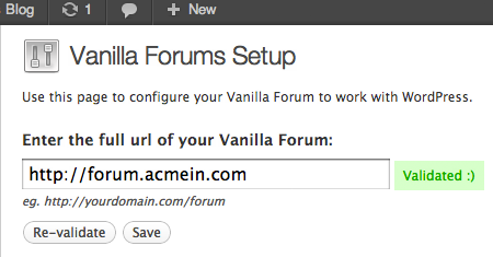 Wordpress plugin deeply integrates your forum with your site.